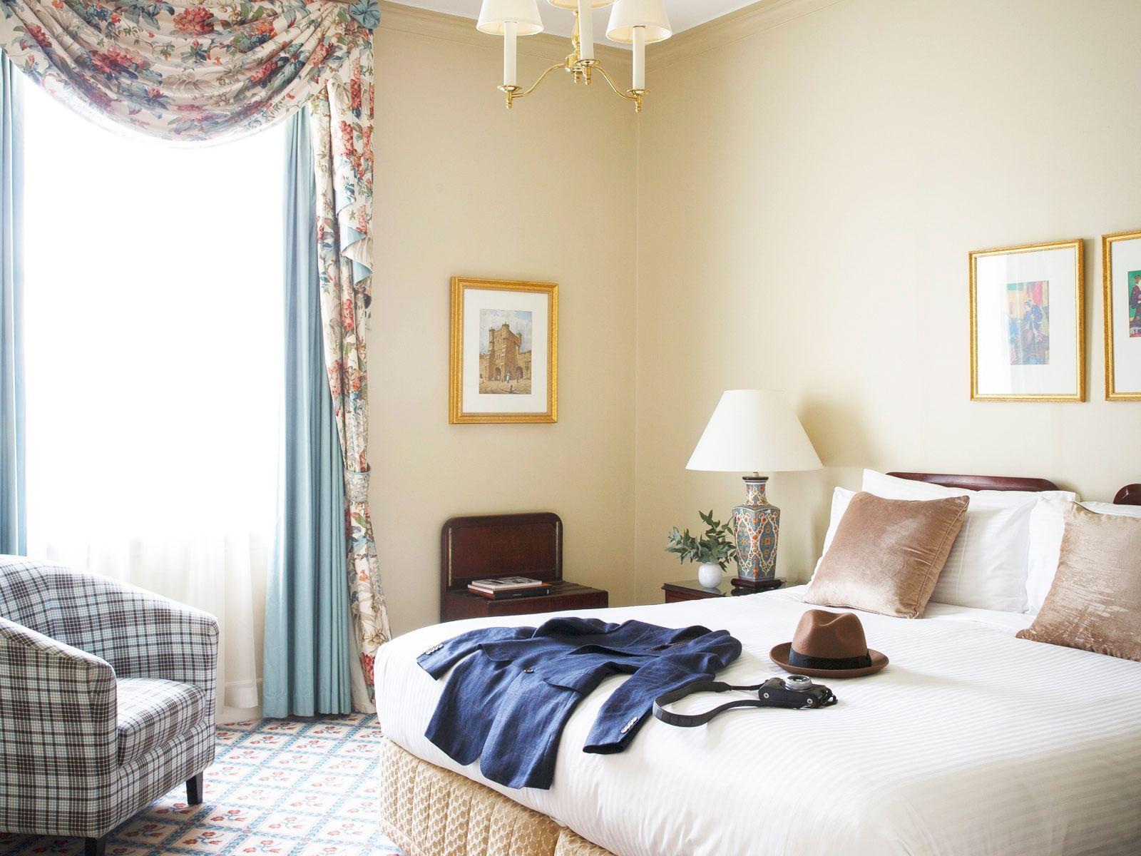 Junior Suite Bedroom at The Hotel Windsor Melbourne
