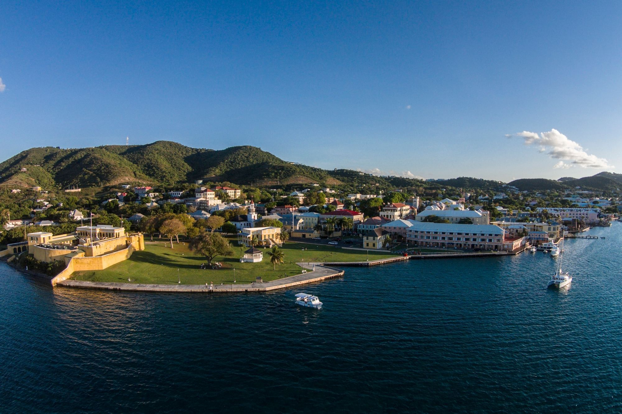 Christiansted Town Aerial View