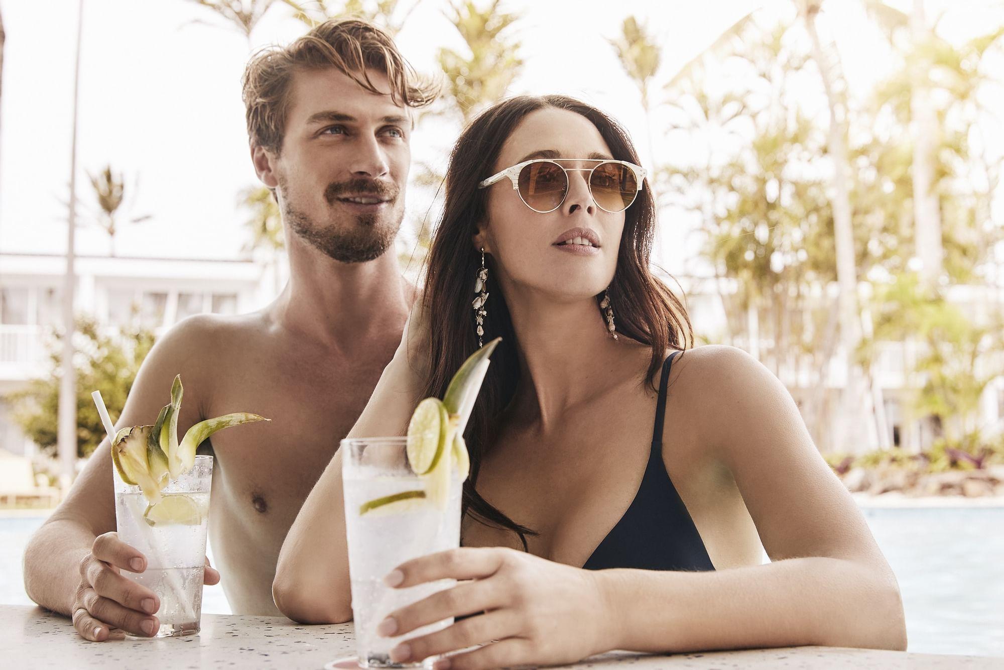 Couple having drinks in Bar Rumbha at Daydream Island Resort