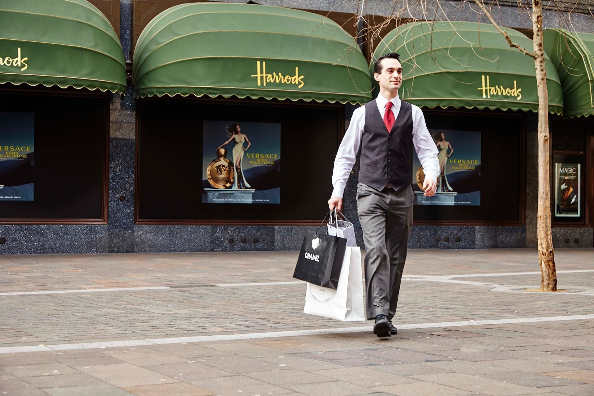 Concierge outside Harrods