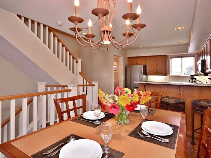 Dining area in the Two Bedroom Beachfront Villa at Manteo Resort