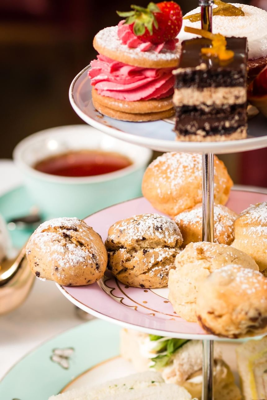 View of the food platter with Afternoon Tea at Scoff & Banter