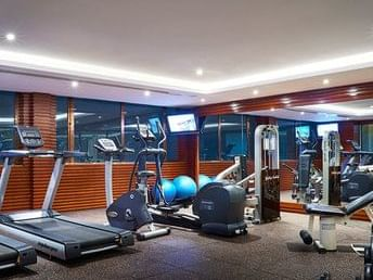 gym fitness center with treadmill, gym bike and other equipments