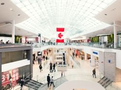 Interior view of the South Centre Mall near Carriage House Hotel