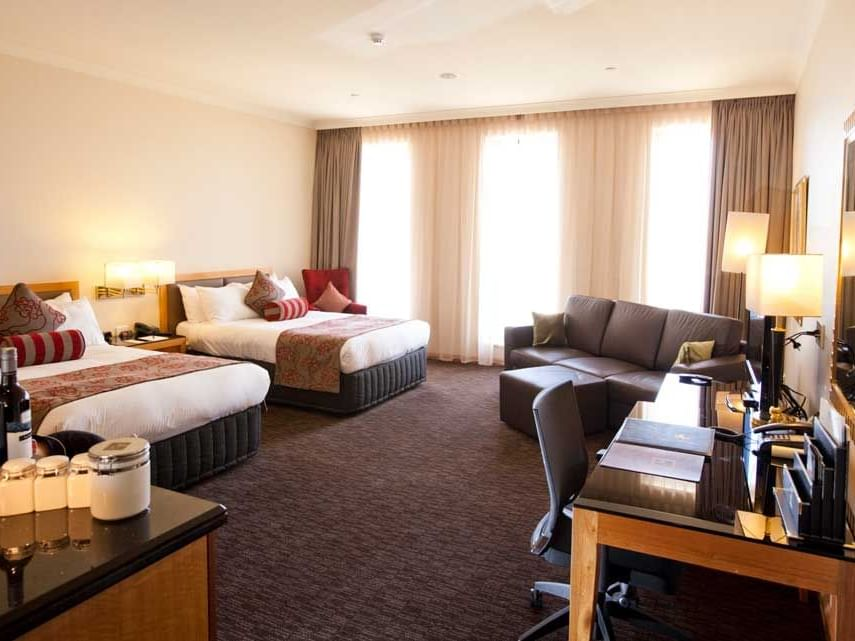 A view of Club Twin Room in Duxton Hotel Perth