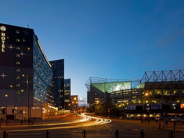 The exterior view of the Sandman Signature Newcastle Hotel from