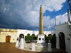Exterior view of the Plaza Francia monument in Panama