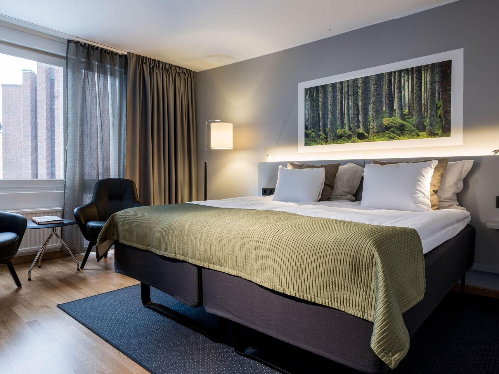 Double Superior Room at Hotel Birger Jarl in Stockholm, Sweden