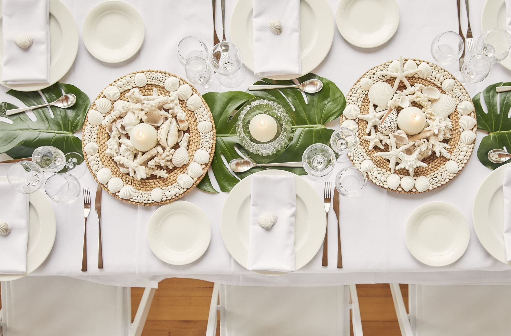Table decors with seashells at Daydream Island Resort