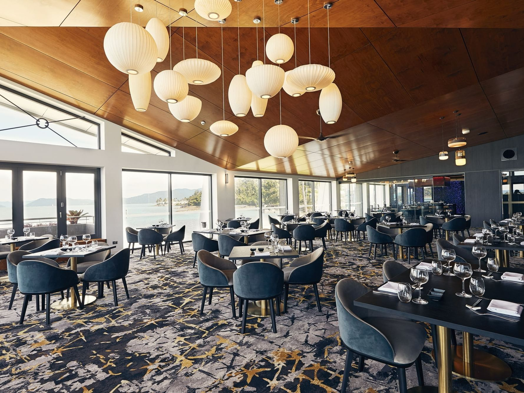 Infinity Restaurant with sea view at Daydream Island Resort