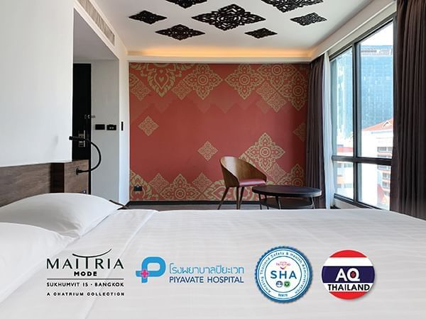 Banner with ASQ-ALQ & SHA logo at Maitria Hotels & Residences