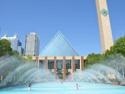Edmonton City Hall near Metterra Hotel on Whyte
