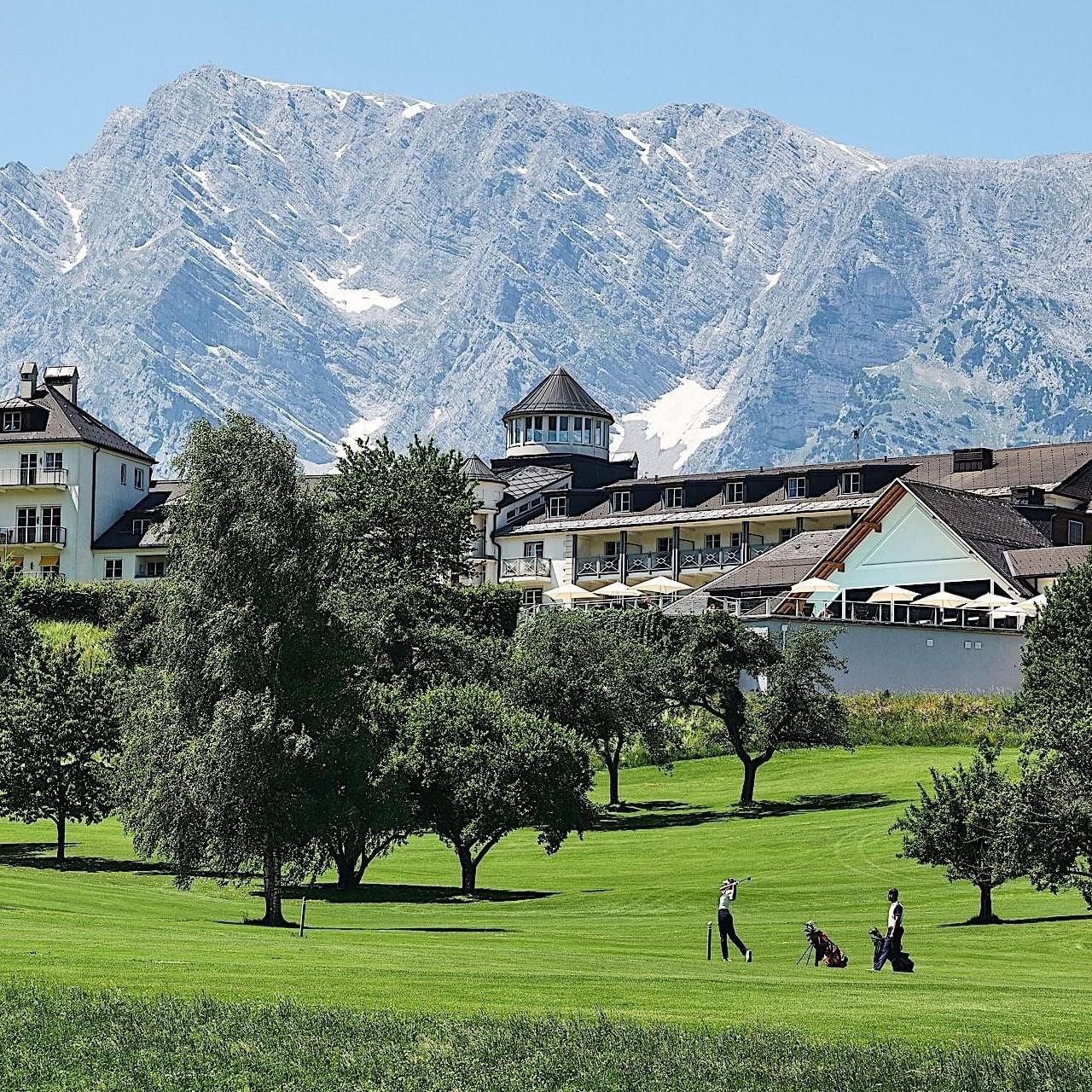 Landscape from Schloss Pichlarn Hotel in Austria