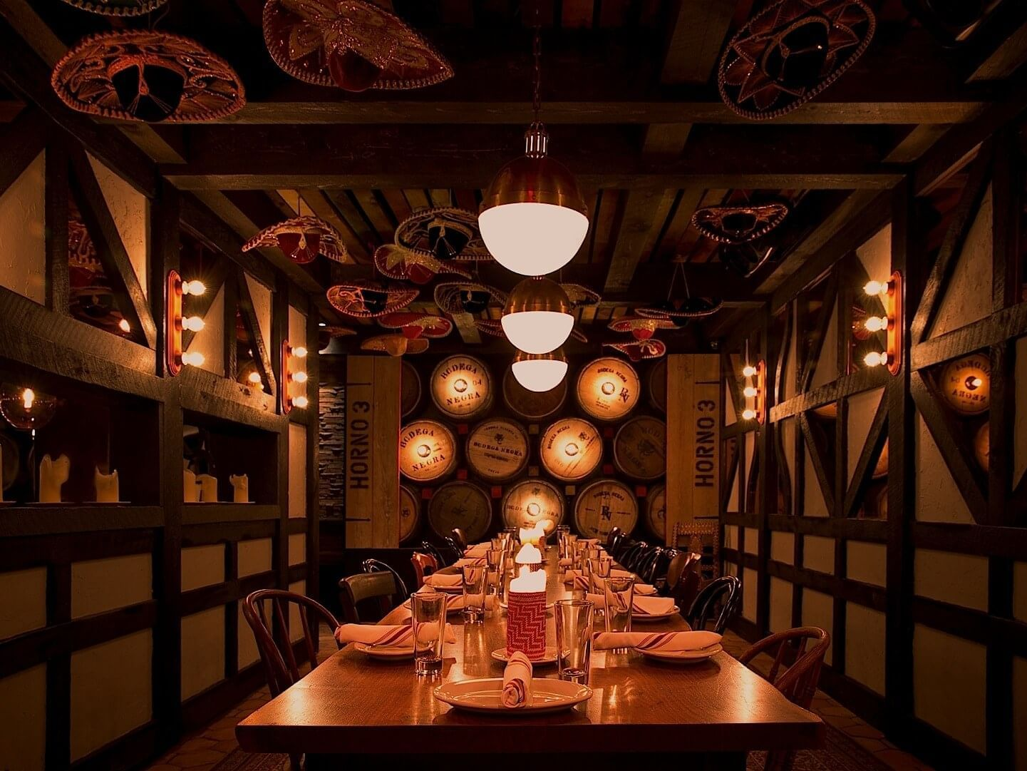 Dining area in Bodega Negra restaurant at Dream Downtown NYC