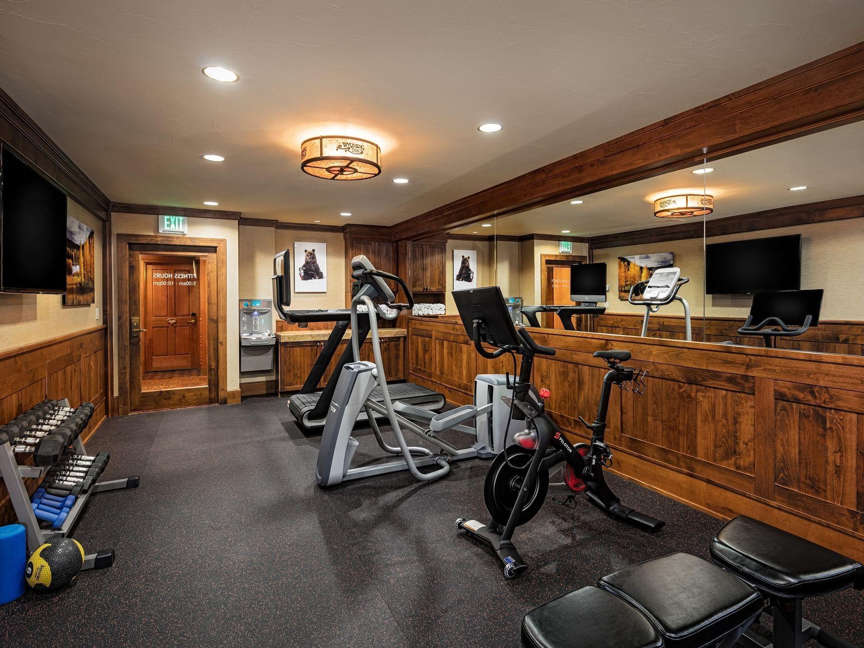 Peloton equipment at Wyoming Inn