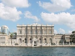 Exterior view of Dolmabahce Palace near CVK Hotels