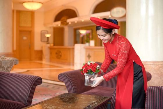 Cleaning at Hanoi Daewoo Hotel
