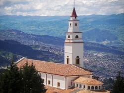 Areal view of Cerro de Monserrate near Bogotá Plaza Hotel