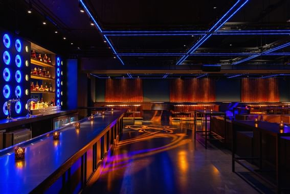 Dirty Little secret night club with dining room at Dream hotel.