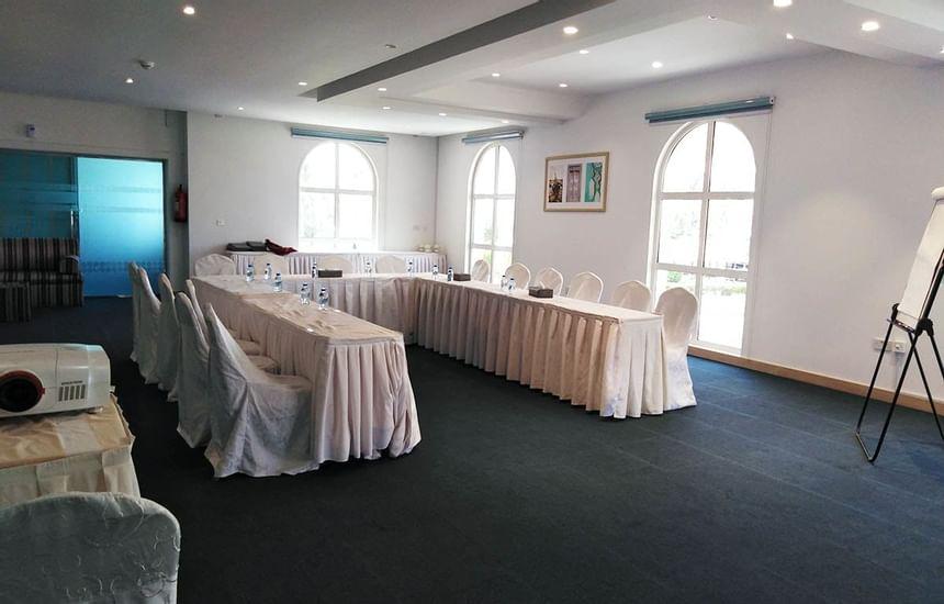 U-shape configuration in meeting room in Sealine Beach Resort