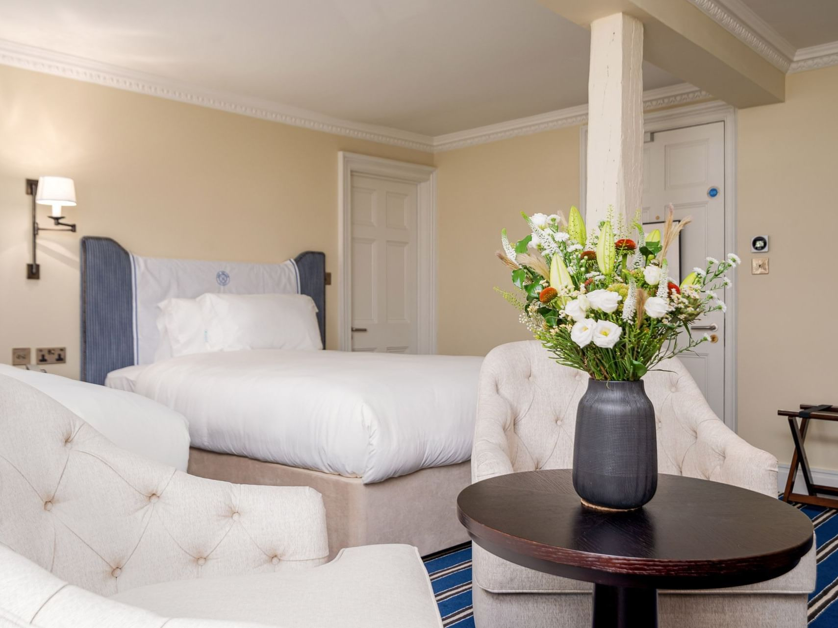 Interior of Riverside Twin Room at The Relais Henley