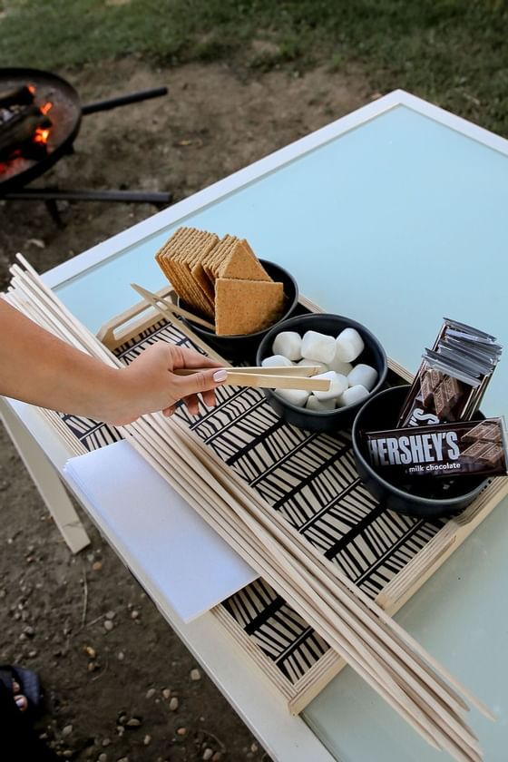 Evening S'mores Event at The Roundtree, Amagansett, Hotel in Ham