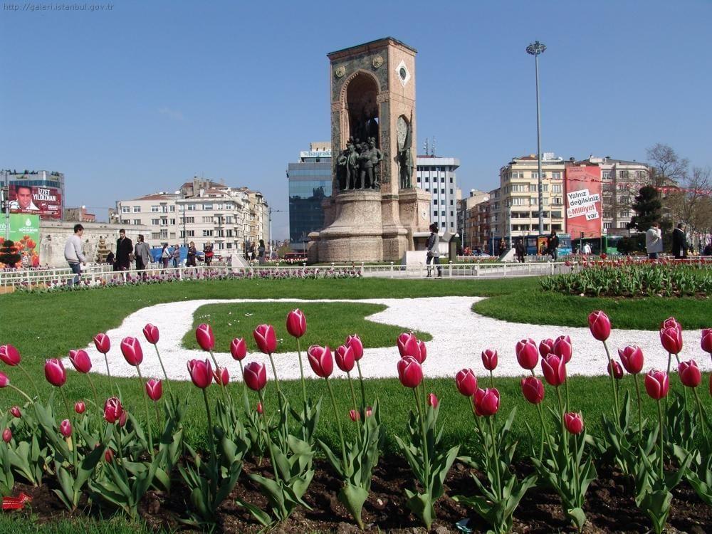 Flower garden  near the Eresin Taxim Premier