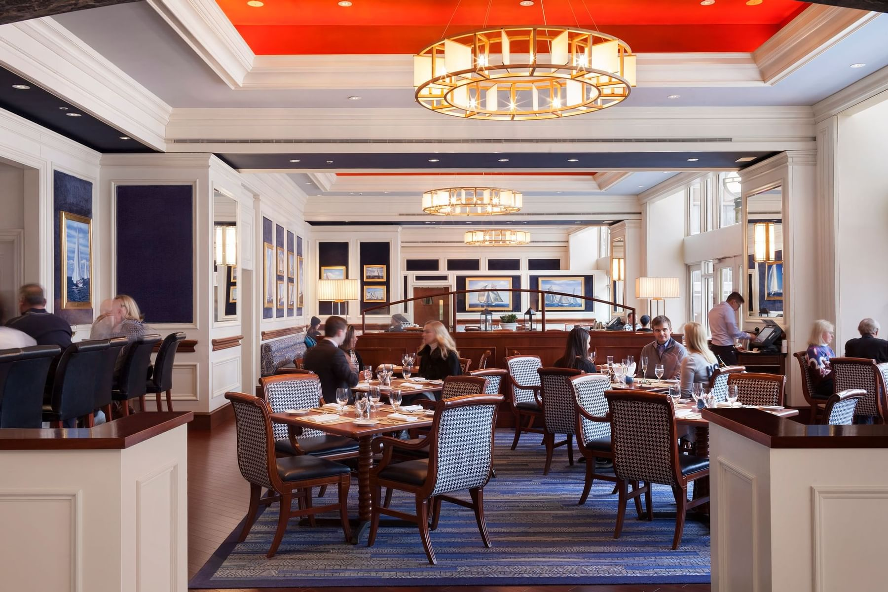 Seating in Rowes Wharf Sea Grille