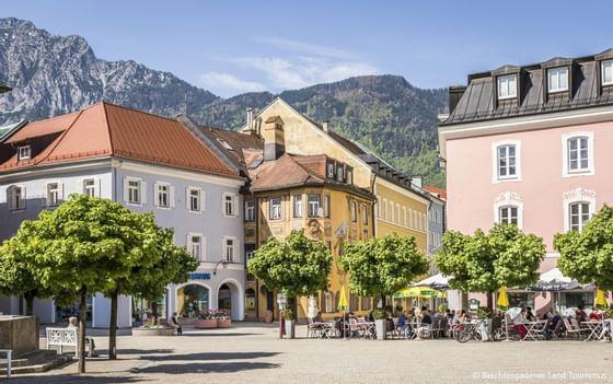Buildings & mountains near Precise Bad Reichenhall Bavaria