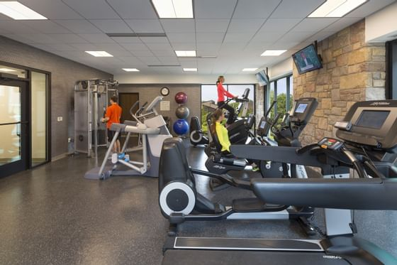 fitness center with treadmill
