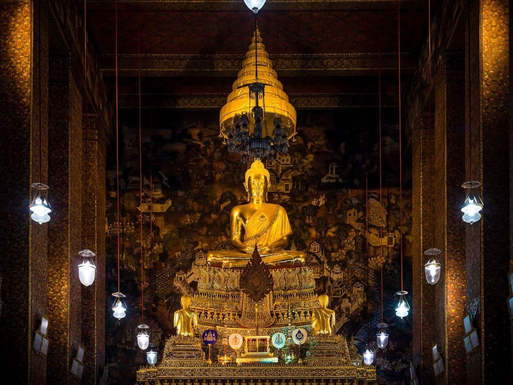 Wat Pho in Temple of the Reclining Buddha (Wat Pho) near Chatrium Hotel Riverside Bangkok