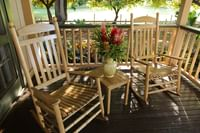 Patio rocking chairs at Waimea Plantation Cottages