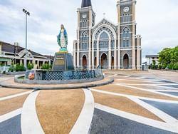 Exterior view of the Catholic Church near Chatrium Golf Resort Soi Dao Chanthaburi