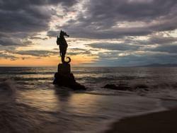 Estatua de caballito de mar