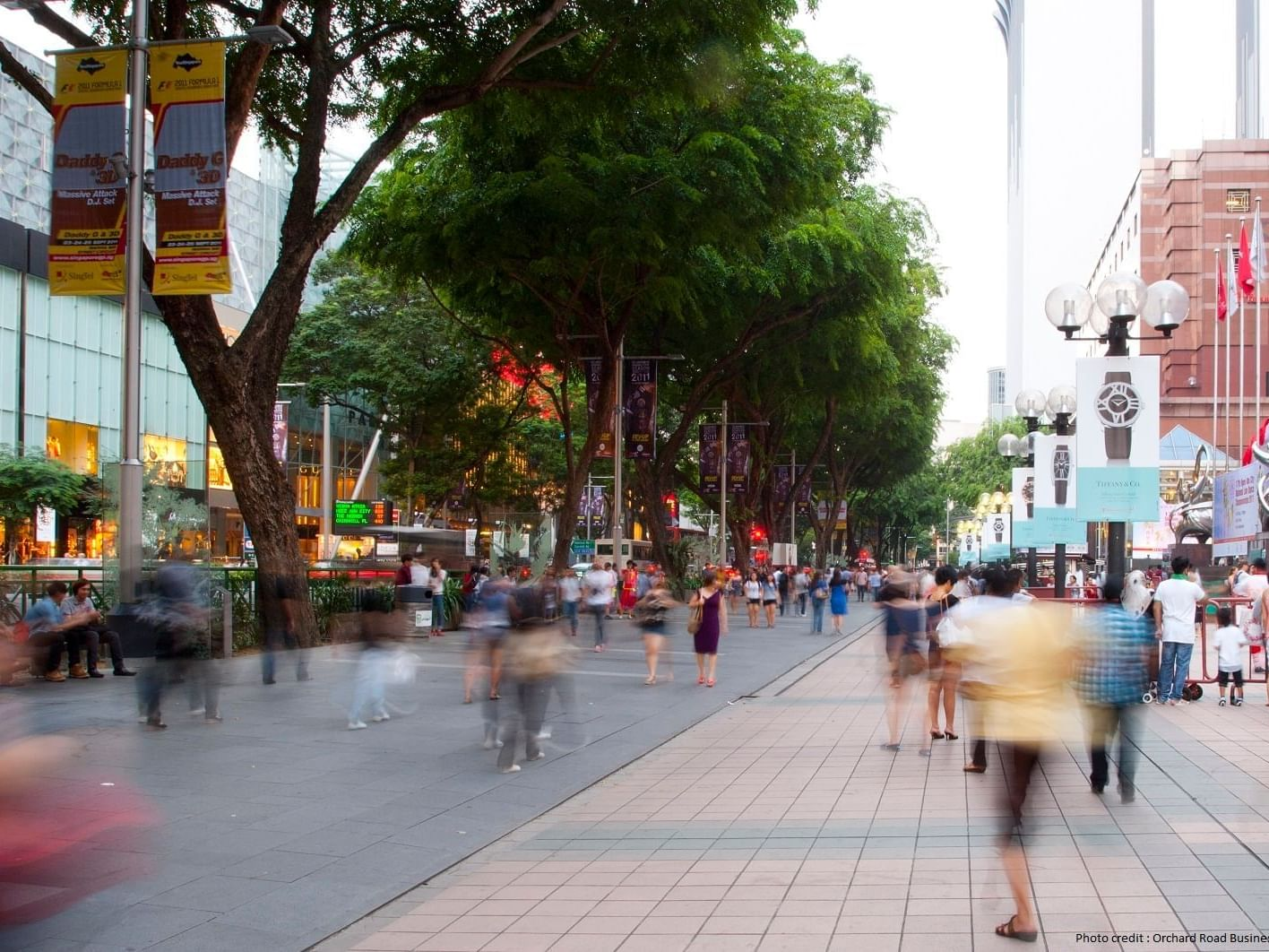People walking on the streets in Singapore