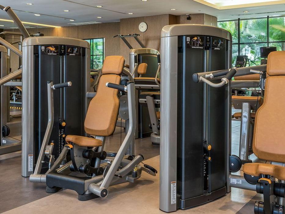 View of Fitness center at Chatrium Residence Sathon Bangkok