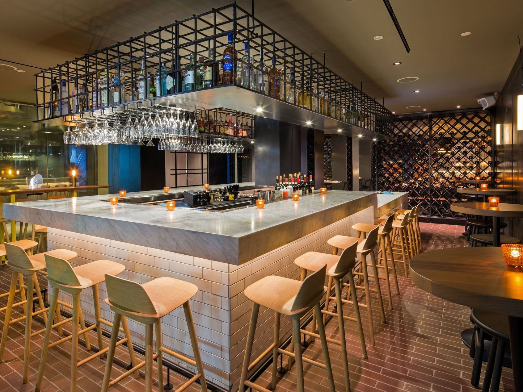 Bar & dining space in Serafina at The Time New York