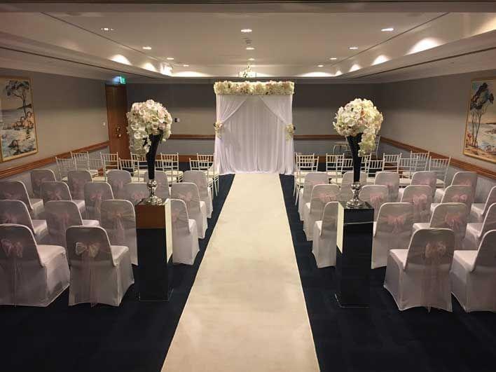 Indoor wedding isle at Duxton Hotel Perth