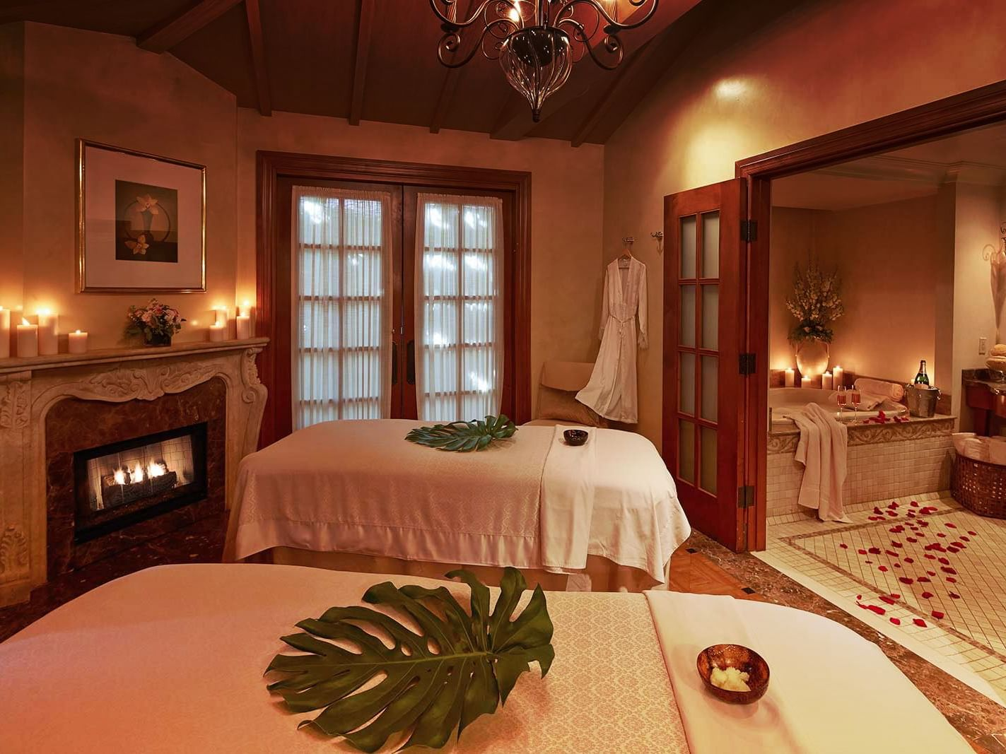 Two massage tables at the Spa in Kelly's Spa & Boutique