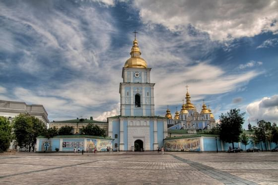 Mikhailovskaya Square OP near in Intercontinental Kyiv hotel