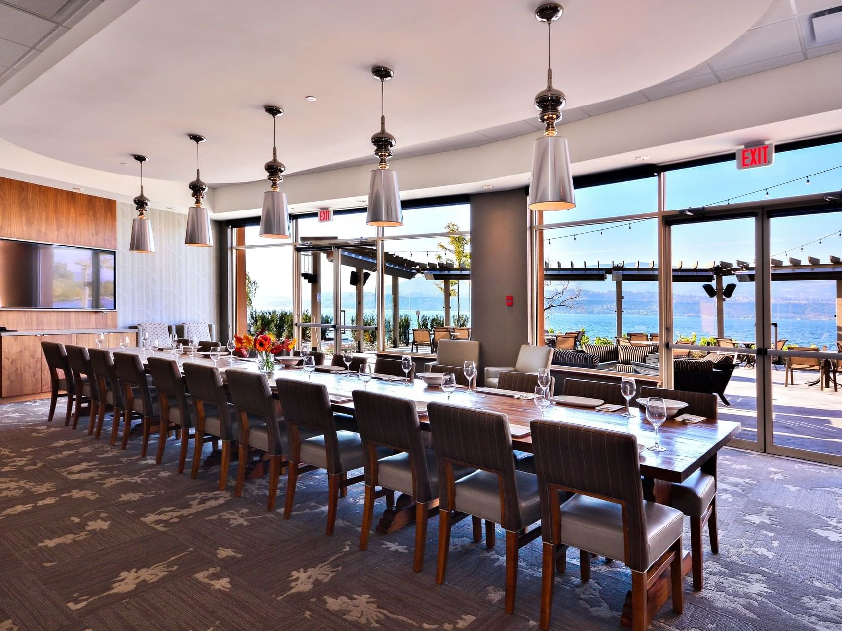 View Room with meeting arrangements at Manteo Resort