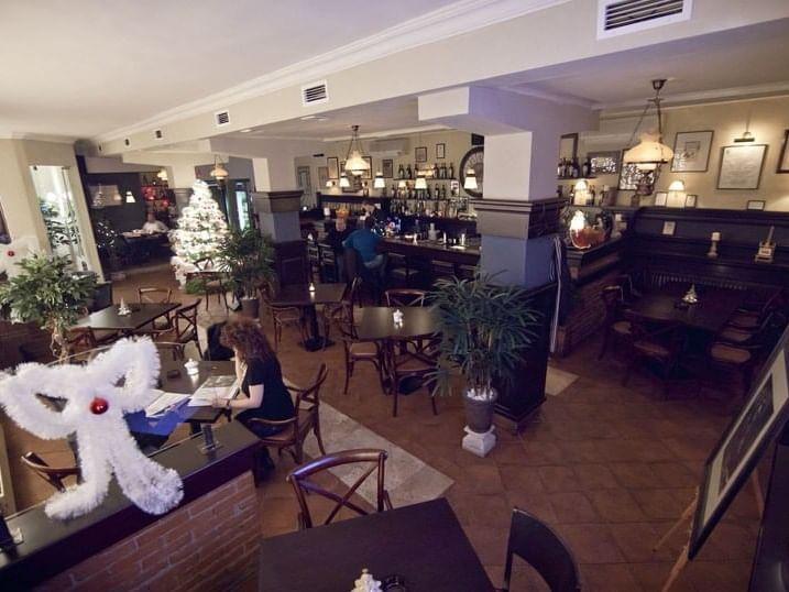 Interior of The Bistro Millenium near Ana Hotels in Romania