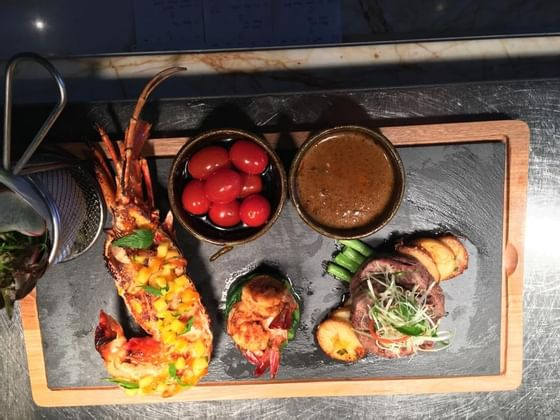 Surf 'N' Turf in Planter's Restaurant at The Danna Langkawi