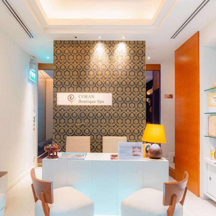 coran boutique spa reception in Dream Bangkok.