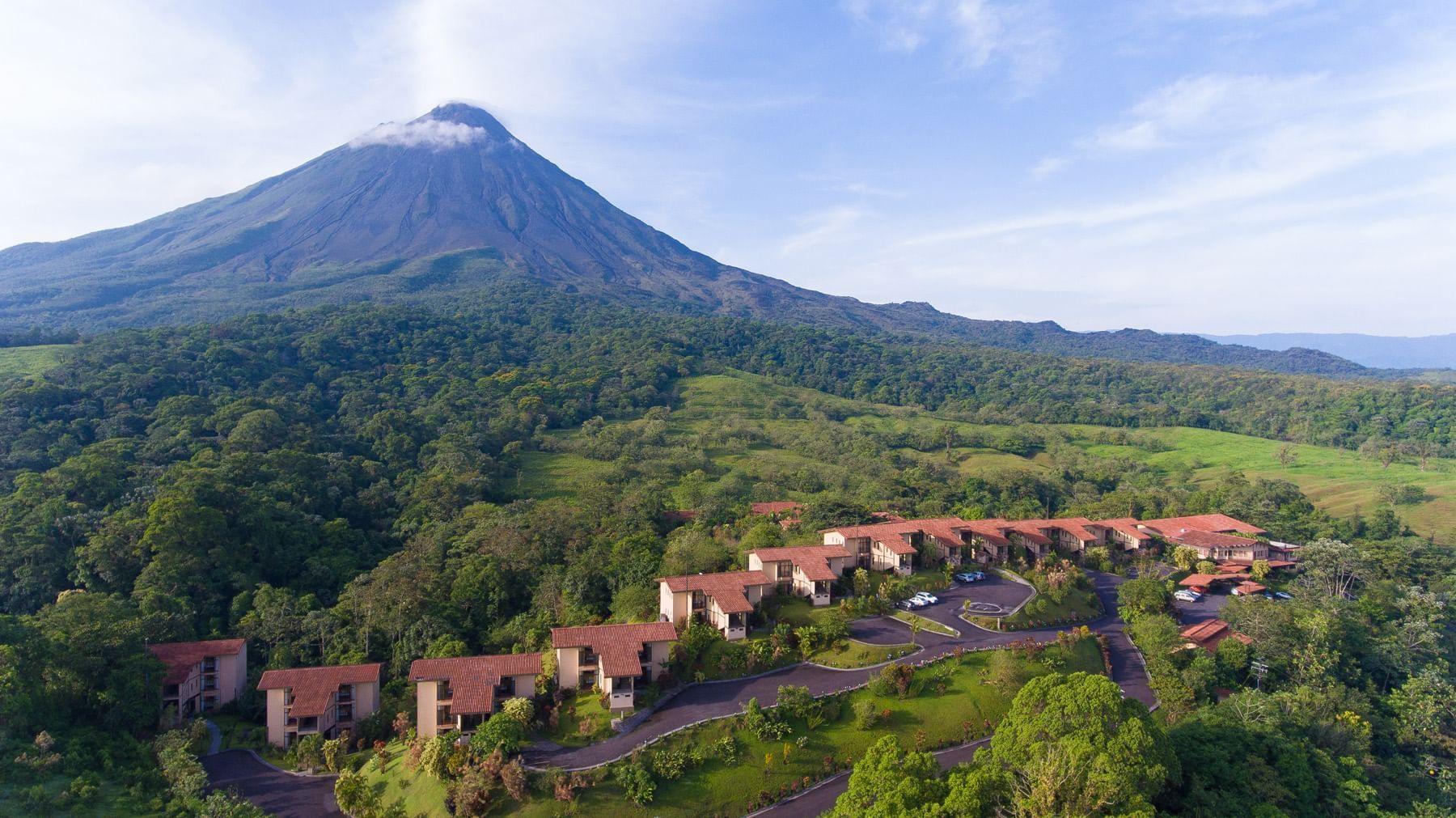 Vista aérea del volcán