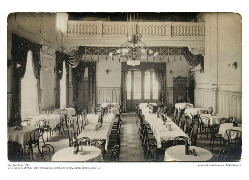 History of Hotel Ruze, Český Krumlov, Czech Republic