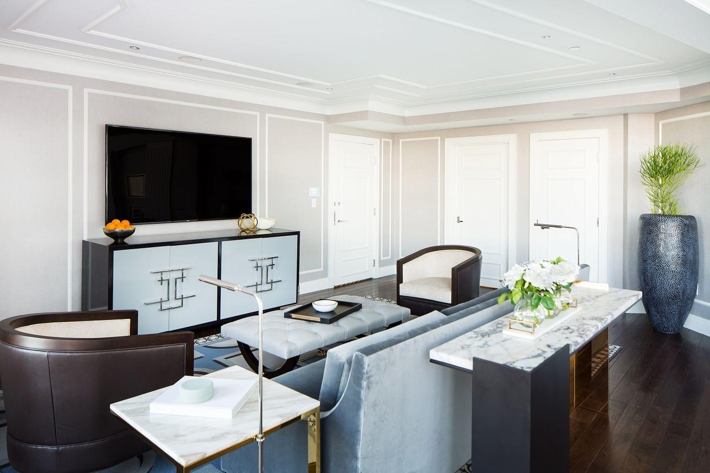 Living space in Presidential Suite