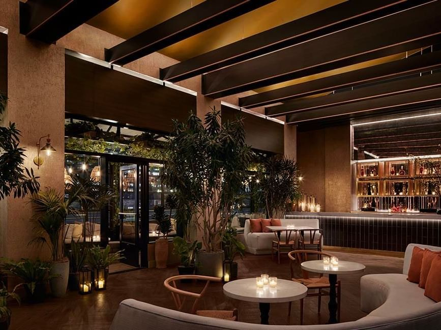 loft space on rooftop bar