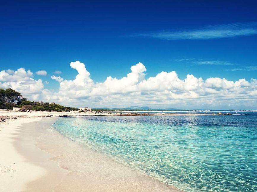 Vistas de la playa des trenc   Mallorca