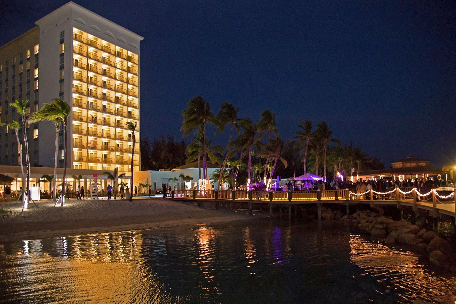 Warwick Bahamas Building By Night Grand Opening